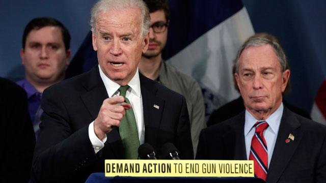 Biden, Bloomberg and Newtown Parents Press for Strict Gun Control
