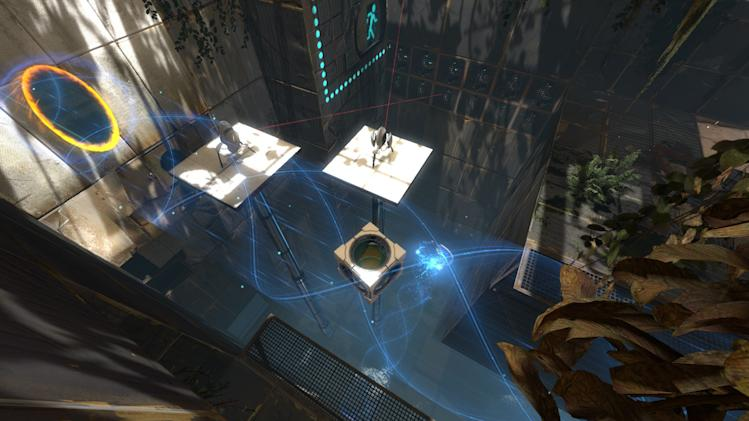 "In this video game image released by Valve, a scene is shown from the game ""Portal 2."" (AP Photo/Valve)."