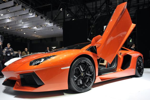 The new Lamborghini Aventador LP700-4 is shown  during the press day at the 81st Geneva International Motor Show in Geneva, Switzerland, Wednesday, March 2, 2011. The Motor Show will open its gates to