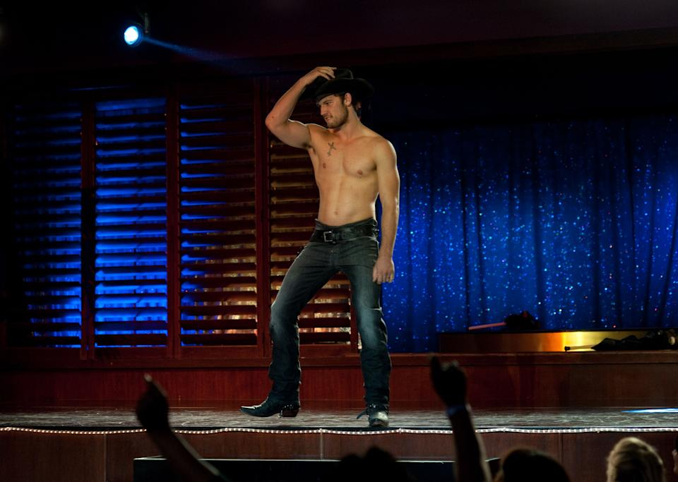 "This film image released by Warner Bros. shows Alex Pettyfer in a scene from ""Magic Mike."" (AP Photo/Warner Bros., Glen Wilson)"