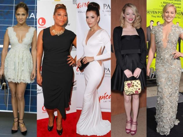 Jennifer Lopez, Queen Latifah, Eva Longoria, Emma Stone, Abbie Cornish  -- Getty Images