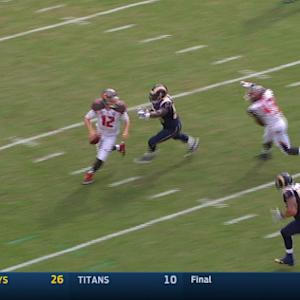 Tampa Bay Buccaneers quarterback Josh McCown throws bad interceptions