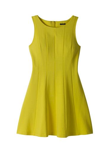 Ann Taylor Ponte Flounce Dress