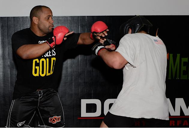 UFC On Fox: Preview - Daniel Cormier Meets With San Francisco 49ers Aldon Smith
