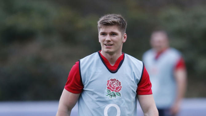 England's Owen Farrell during training