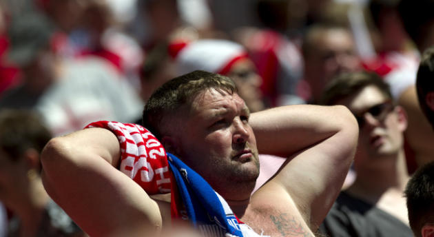 A Sheffield United Fan Watches AFP/Getty Images