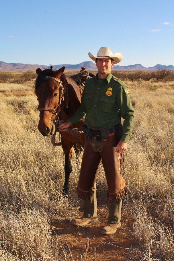 In this undated photo provided by the Ivie family, Border Patrol Agent Nicholas Ivie is seen. Ivie, a 30-year-old father of two, was shot and killed in the sparsely populated desert in southeastern Arizona early Tuesday, Oct. 2, 2012. (AP Photo/Ivie Family, Cole Kynaston)