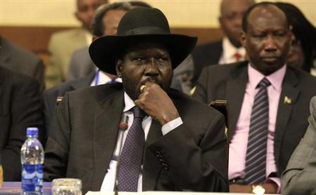 South Sudan's President Kiir attends a session during the 25th Extraordinary Summit of the IGAD on South Sudan in Ethiopia's capital Addis Ababa