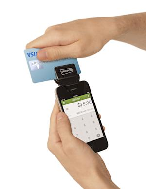 This undated image provided by Groupon shows the company's new payment service launched Wednesday, Sept. 19, 2012,  that allows businesses to run credit cards using an iPhone or iPod Touch. The announcement sent shares of the Chicago company 7 percent higher in morning trading on Wednesday. (AP Photo/Groupon)