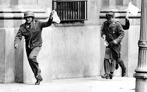 FILE - In this Sept. 11, 1973 file photo, police officers …