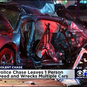Police Chase Ends With Explosive Crash