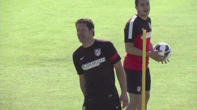 Diego Simeone excited by Madrid derby