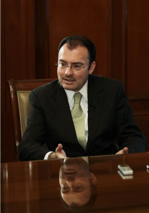 Mexico's Economy Finance Minister Luis Videgaray talks to Reuters at his office during the Reuters Latin America Investment Summit at the National Palace in Mexico City