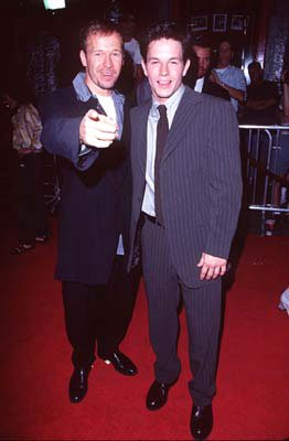 Donnie Wahlberg and Mark Wahlberg at the Hollywood premiere of New Line's Boogie Nights