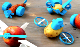 3D printed add-ons let kids play with their food, literally
