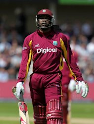 Chris Gayle, pictured, and Johnson Charles started well as they beat England by 15 runs