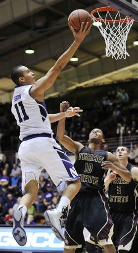 Northwestern rallies past Texas State 74-68