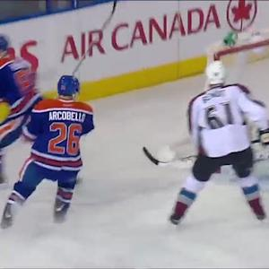 Oilers score two in 15 seconds