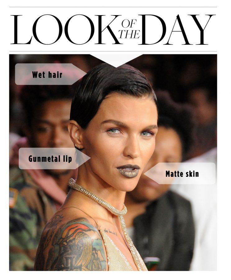 Ruby Rose Slays In Silver Lipstick