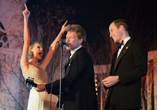 Taylor Swift, Jon Bon Jovi, and Prince William.