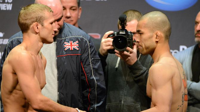 MMA: UFC 158-St. Pierre vs Diaz Weigh-In