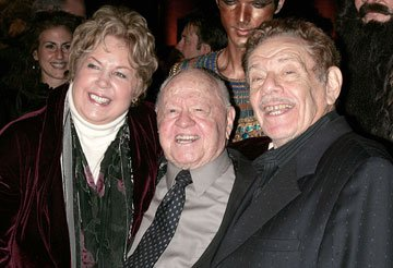 Mrs. Rooney, Mickey Rooney and Jerry Stiller at the New York premiere of 20th Century Fox's Night at the Museum