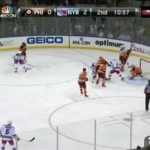 Steve Mason Save on Marc Staal (09:03/2nd)