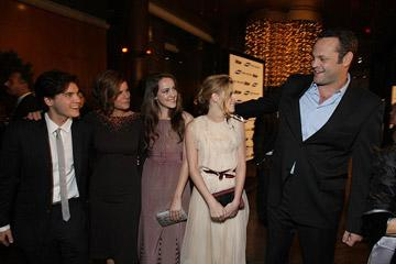 Emile Hirsch , Marcia Gay Harden ,  Jena Malone , Kristen Stewart and Vince Vaughn at the Los Angeles premiere of Paramount Vantage's Into the Wild