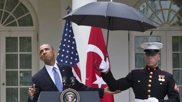 The President's Umbrella Scandal Folded Before It Could Take Off