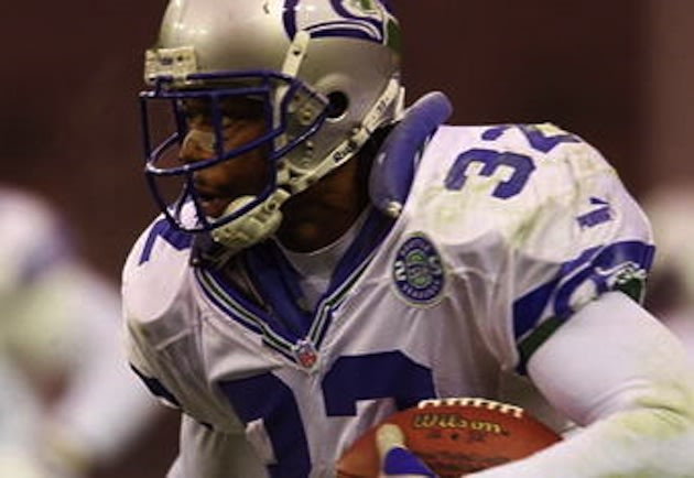 The new Oak Ridge football coach Ricky Watters during his Seattle days &#x2014; Getty Images