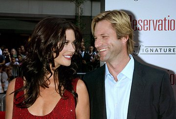Catherine Zeta-Jones and Aaron Eckhart at the New York premiere of Warner Brothers' No Reservations