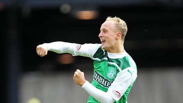 Leigh Griffiths scored the only goal for Hibernian