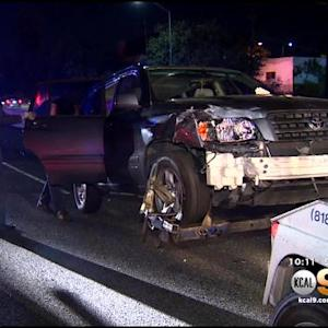 7 People Injured In 3-Vehicle Crash On 101 Freeway