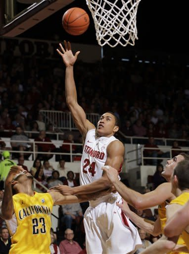 Stanford wins 75-70, denies Cal share of title