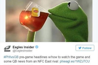 Eagles return fire in dated meme war with Washington