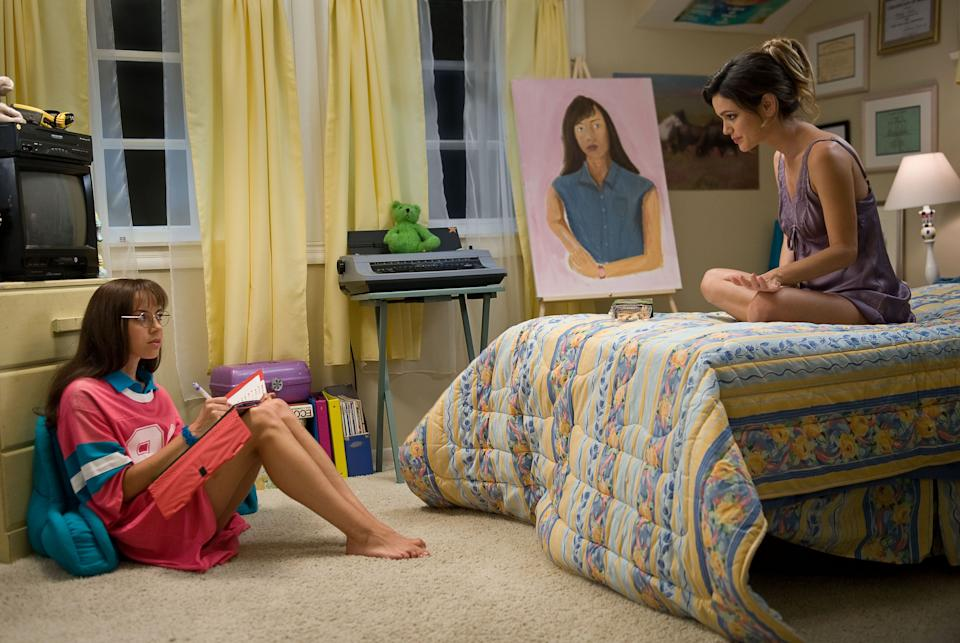"This film publicity image released by CBS Films shows Aubrey Plaza as Brandy Klark, left, and Rachel Bilson as Amber Klark, in a scene from ""The To Do List."" (AP Photo/CBS Films, Bonnie Osborne)"