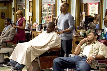 Toni Trucks, Omar Gooding and Dan White (II) Showtime's 'Barbershop: The Series' Toni Trucks
