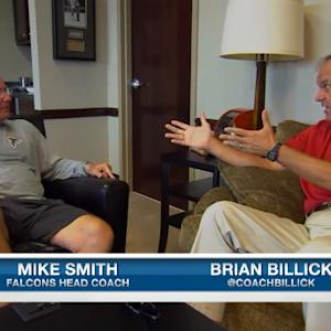 Brian Billick with Atlanta Falcons head coach Mike Smith discussing Hard Knocks
