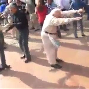 Grandpa Tears Up Dance Floor