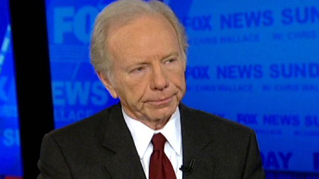 Sen. Joe Lieberman reacts to school shooting