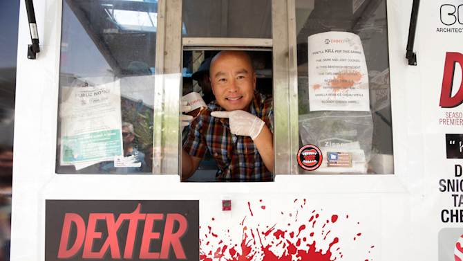 "CS Lee at the Showtime Dexter Coolhaus Ice Cream Truck, on Sunday, June, 23, 2013 in Venice, CA. For the launch of the eighth and final season of Dexter and as part of its For Your Consideration Emmy Award campaign, SHOWTIME distributes free Dexter ""Killer Combo"" Ice Cream Sandwiches in Los Angeles and New York. (Photo by Eric Charbonneau/Invision for Showtime/AP Images)"