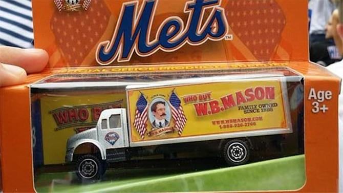 Mets give away a Phillies toy truck