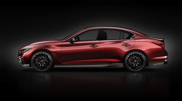 A 560bhp high-performance variant, the Q50 Eau Rouge, is likely to see production too.