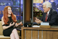 Lindsay Lohan and Jay Leno | Photo Credits: Paul Drinkwater/NBC