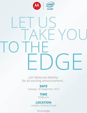 Motorola and Intel plan to 'take you to the edge' with September 18th event