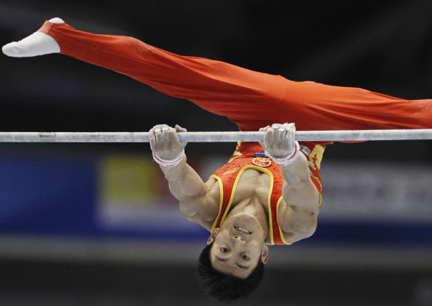China's Teng Haibin was injured during training and withdrew from the Olympics. (AP)