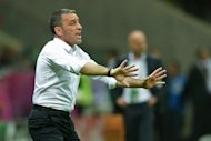 Portuguese head coach Paulo Bento reacts during the Euro 2012 football championships quarter-final match the Czech Republic vs Portugal at the National Stadium in Warsaw. Bento said efficiency was the key to his side&#39;s 1-0 Euro 2012 quarter-final victory over Czech Republic at the National Stadium here on Thursday