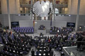 A general view of the Bundestag, German lower house…