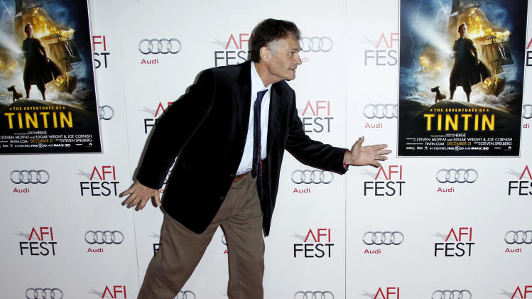 """Actor Fred Willard arrives at a screening of """"The Adventures of TinTin"""" during the closing night gala of AFI FEST 2011, Thursday, Nov. 10, 2011, in Los Angeles. """"The Adventures of TinTin"""" opens in theaters Dec. 21, 2011. (AP Photo/Matt Sayles)"""
