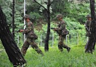 South Korean soldiers stage a military drill to test defences against North Korea in Seoul in August 2012. South Korea on Thursday kicked off an annual, large-scale military exercise aimed at countering threats from North Korea at a time of heightened cross-border tensions